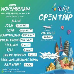 open trip alif transport